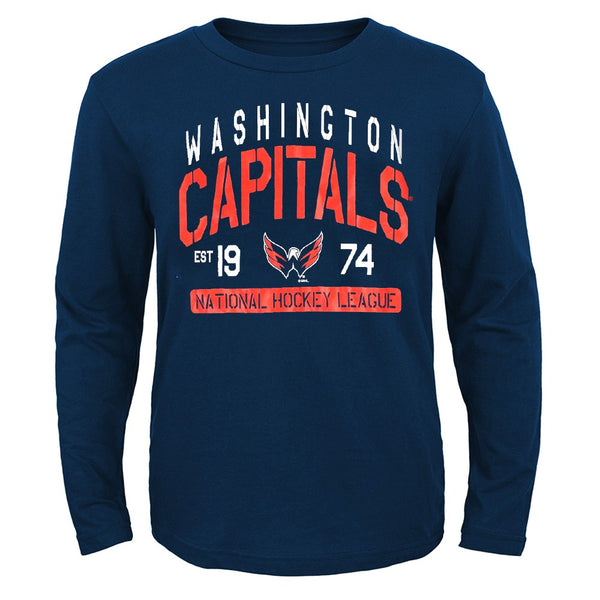 Washington Capitals Outerstuff NHL Youth Navy Blue Long Sleeve Graphic T-Shirt