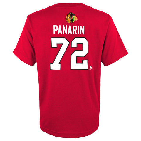 Artemi Panarin NHL Chicago Blackhawks Red Player Jersey T-Shirt Youth (XS-XL)