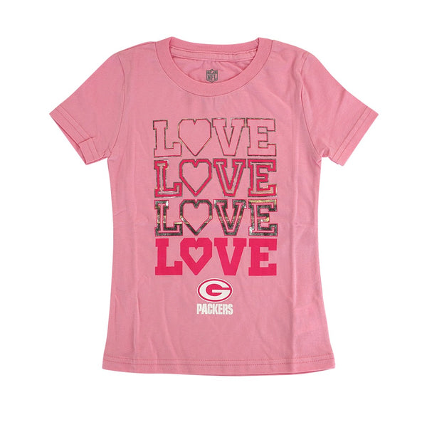 "Green Bay Packers Outerstuff NFL Little Girls Pink ""Emphatically"" T-Shirt"