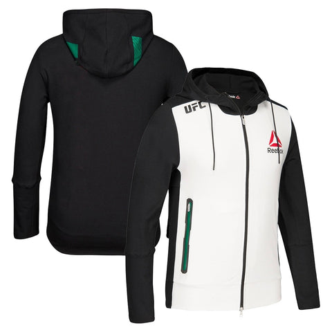 Reebok Official UFC Fight Kit BBG (White/Black/Green) Walkout Hoodie Men's