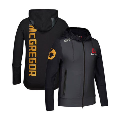 Conor McGregor UFC Fight Kit Reebok Champion Black Gold Walkout Hoodie Men's