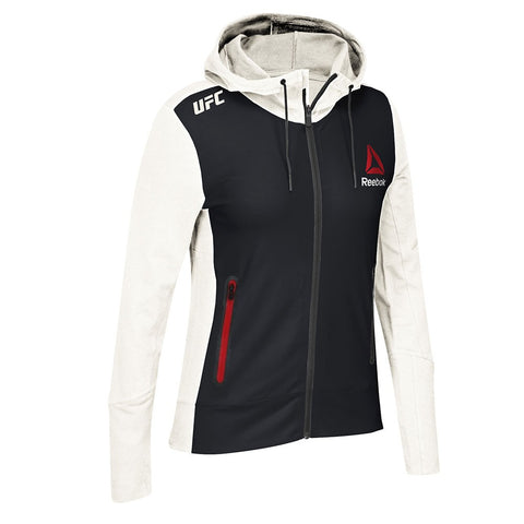 Reebok Official UFC Fight Kit CER (Black/White/Red) Walkout Hoodie Women's