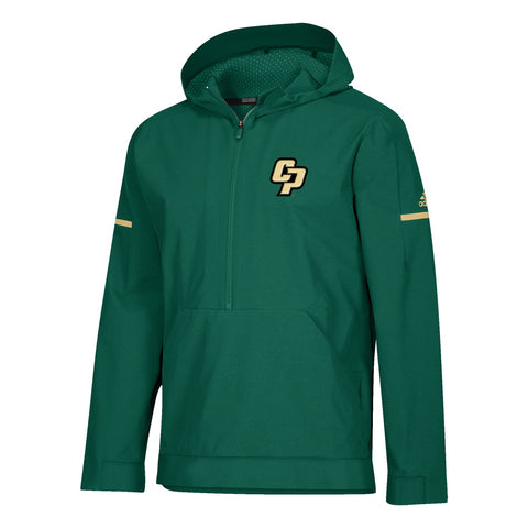 Cal Poly Mustangs Men's 2018 Sideline Dark Green Squad Woven Anorak Jacket
