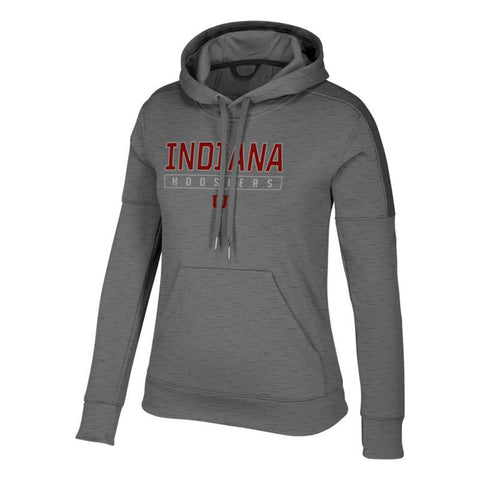 "Indiana Hoosiers NCAA Adidas Women's ""Boxed In"" Grey Hoodie"