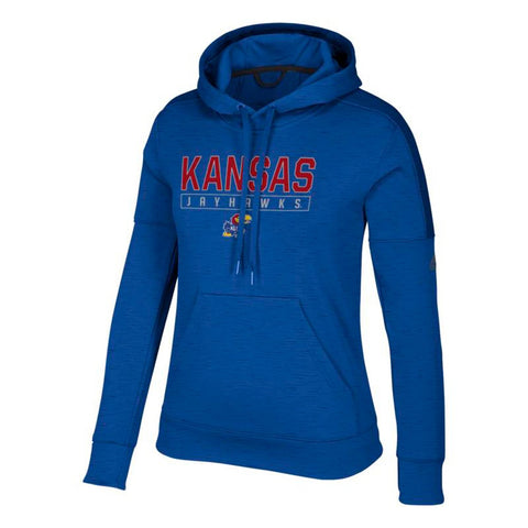 "Kansas Jayhawks NCAA Adidas Women's ""Boxed In"" Blue Hoodie"