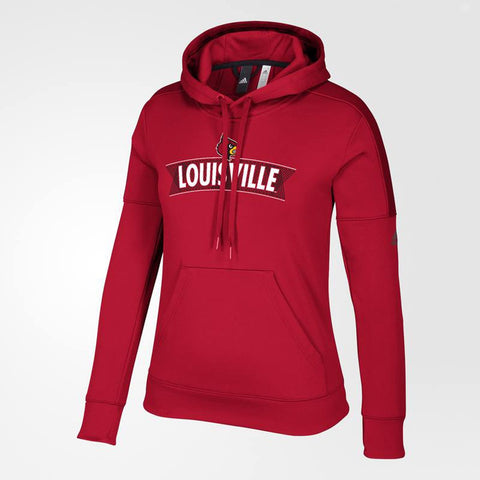Louisville Cardinals NCAA Adidas Women's Line Pattern Banner Red Hoodie