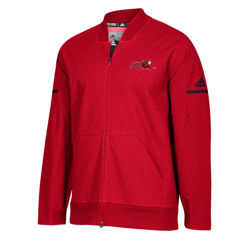 Jacksonville State Gamecocks Adidas Men's 2018 Sideline Red Squad Bomber Jacket