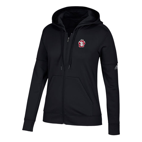 South Dakota Coyotes NCAA Adidas Women's Primary Logo Black Full-Zip Hoodie