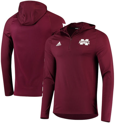 Mississippi State Bulldogs Adidas NCAA Men's Sideline 1/4 Zip Training Hoodie