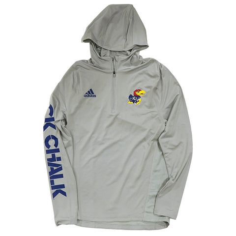 Kansas Jayhawks Adidas NCAA Men's  Sideline 1/4 Zip Training Hoodie