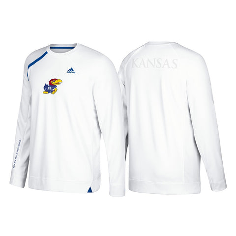 Kansas Jayhawks Adidas NCAA Men's White Authentic On-Court Shooter Shirt