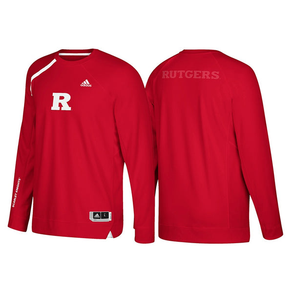 Rutgers Scarlet Knights Adidas NCAA Men's Red On-Court Shooter Shirt (2XL)