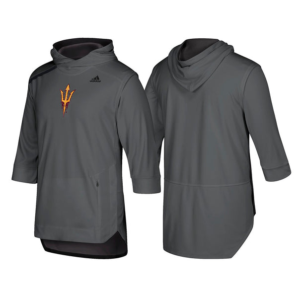 Arizona State Sun Devils Adidas NCAA Mens Grey Iced Out Hooded Shooter Shirt (S)