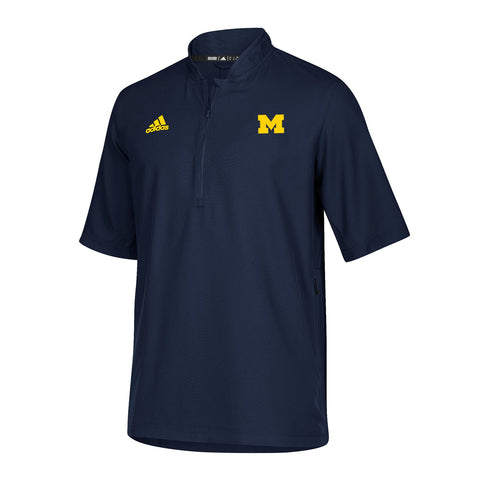 Michigan Wolverines NCAA Adidas Men's 2018 Sideline Navy Blue Woven Knit