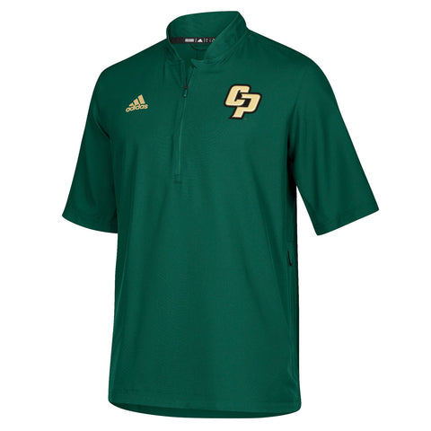 Cal Poly Mustangs NCAA Adidas Men's 2018 Sideline Green Woven Knit