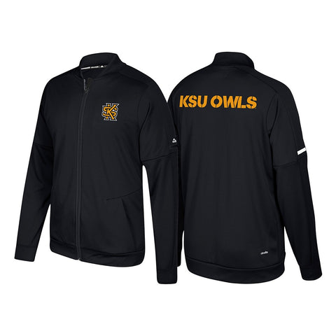 Kennesaw State Owls Adidas NCAA Men's Black Sideline Authentic Warm Up Jacket