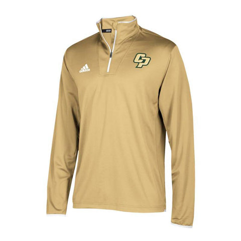 Cal Poly Mustangs NCAA Adidas Men's 2018 Sideline Sand L/S Knit