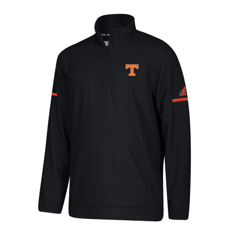 Tennessee Volunteers NCAA Adidas Men's 2018 Sideline Black L/S Woven Knit