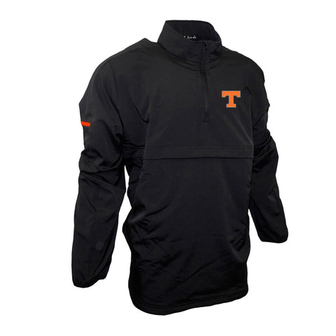 Tennessee Volunteers NCAA Adidas Men's  Black Game Built 1/4 Zip  Woven Jacket