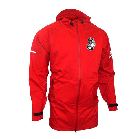 Boston University Terriers NCAA Adidas Men's Red Sideline Game Built Jacket
