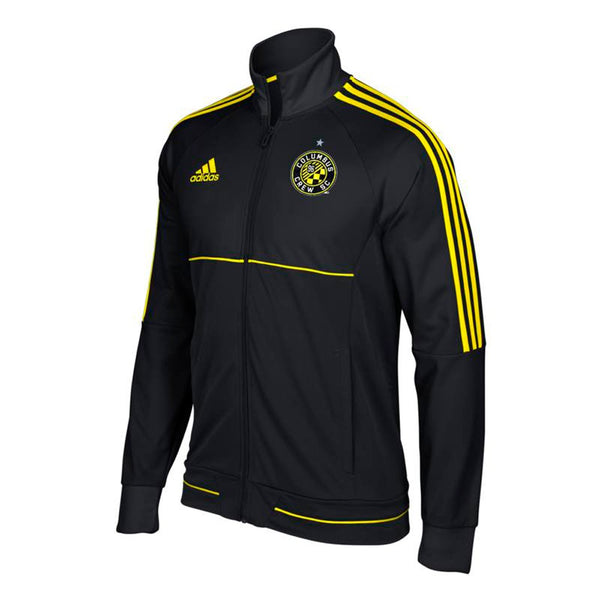 Columbus Crew SC MLS Adidas Men's Sideline Black Full-Zip Anthem Track Jacket