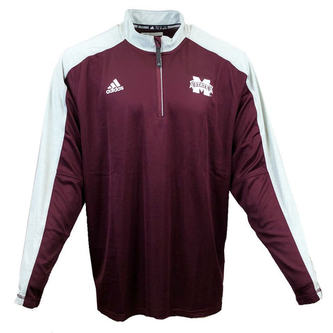 Mississippi State Bulldogs Adidas NCAA Men's Grey Sideline Climalite Knit