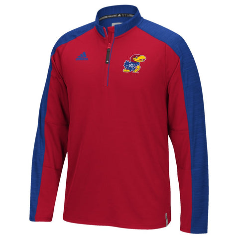 Kansas Jayhawks Adidas NCAA Men's Red Sideline Climalite Knit