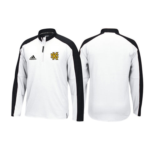 Kennesaw State Owls Adidas NCAA Men's White Sideline Climalite Knit