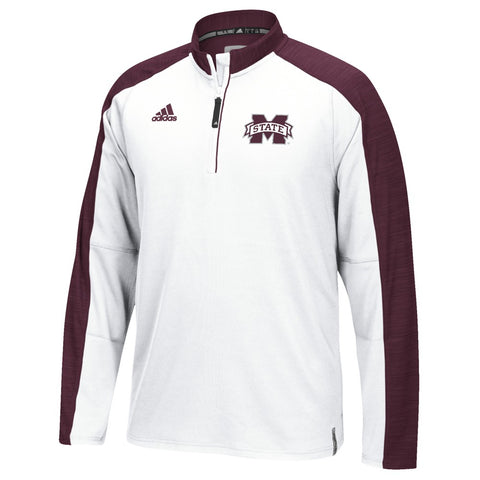 Mississippi State Bulldogs Adidas NCAA Men's White Sideline Climalite Knit