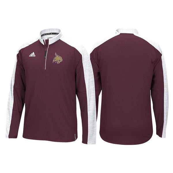 Texas State Bobcats Adidas NCAA Men's Maroon Sideline Climalite Knit