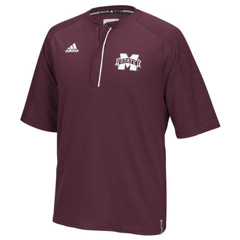 Mississippi State Bulldogs Adidas NCAA Men's Maroon Sideline Climalite Knit