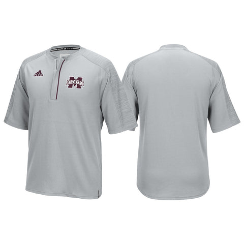 Mississippi State Bulldogs Adidas NCAA Men's Grey Sideline Climalite Knit Shirt