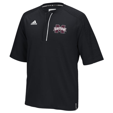 Mississippi State Bulldogs Adidas NCAA Men's Black Sideline Climalite Knit Shirt