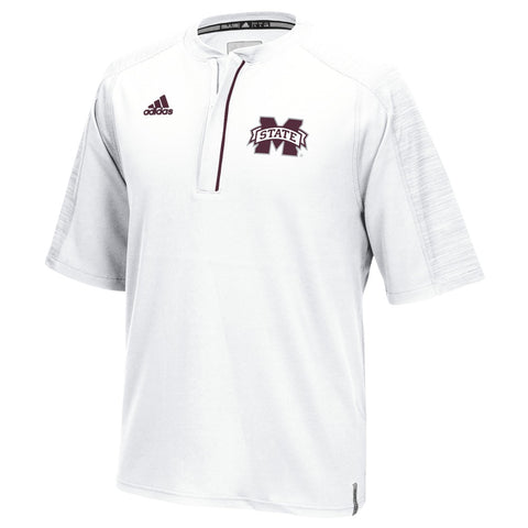 Mississippi State Bulldogs Adidas NCAA Men's White Sideline Climalite Knit Shirt