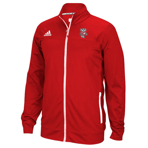 Wisconsin Badgers NCAA Adidas Men's Team Logo Red Full-Zip Utility Jacket