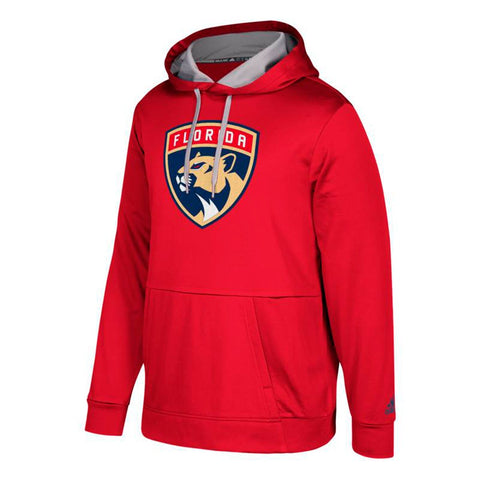 "Florida Panthers NHL Adidas Men's Red ""Checking"" Team Applique Hoodie"