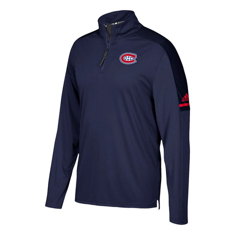 Montreal Canadiens NHL Adidas Men's Center Ice Navy Blue Authentic Pro Jacket