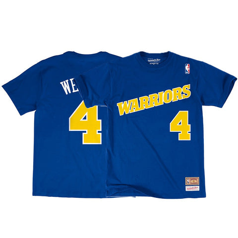 Chris Webber NBA Golden State Warriors Mitchell & Ness Blue N&N Jersey T-Shirt