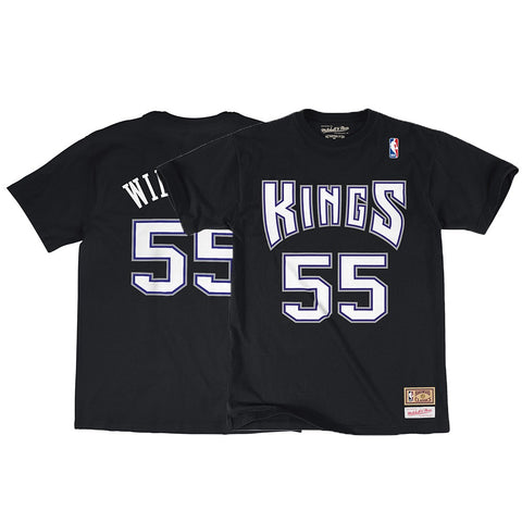 Mike Bibby NBA Sacramento Kings Men's Mitchell & Ness Black N&N Jersey T-Shirt