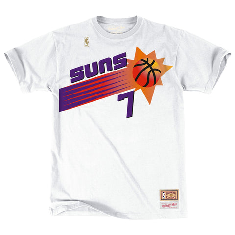 Kevin Johnson NBA Phoenix Suns Men's Mitchell & Ness White N&N Jersey T-Shirt