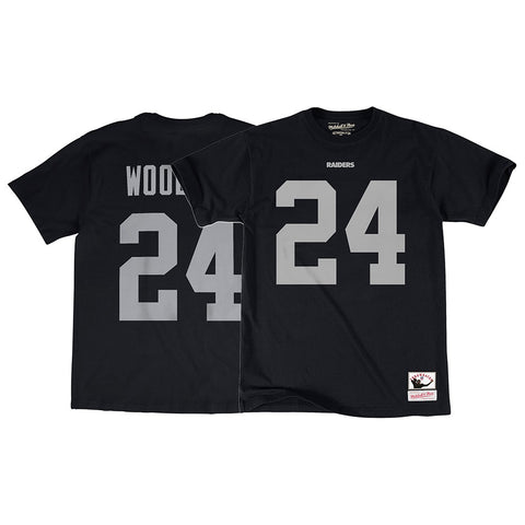Charles Woodson Oakland Raiders Mitchell & Ness Name & Number Jersey T-Shirt