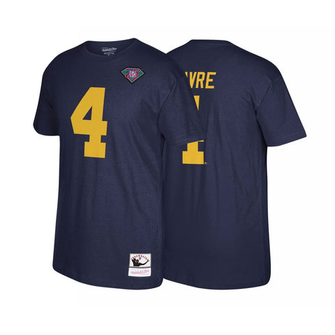 Brett Favre Green Bay Packers Mitchell & Ness Name & Number Jersey T-Shirt
