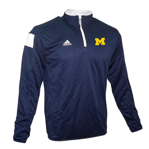 Michigan Wolverines NCAA Adidas Men's 2014 Sideline Navy Blue Coaches Knit