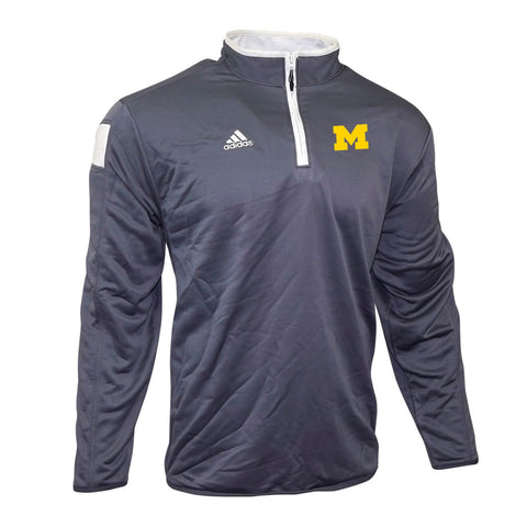Michigan Wolverines NCAA Adidas Men's 2014 Sideline Onix Grey Coaches Knit