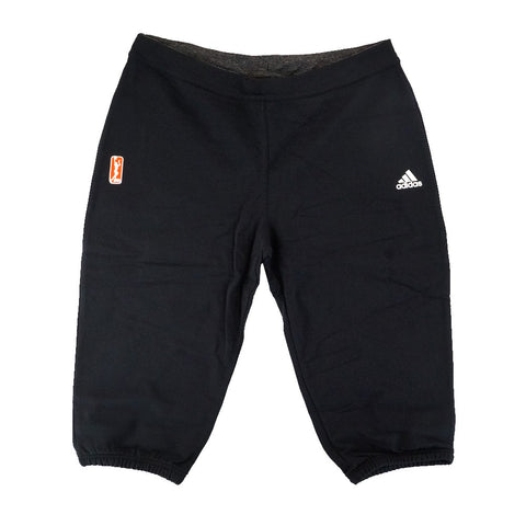 Adidas Official WNBA 3/4 Performance Team Issued Black Capri Pants Women's