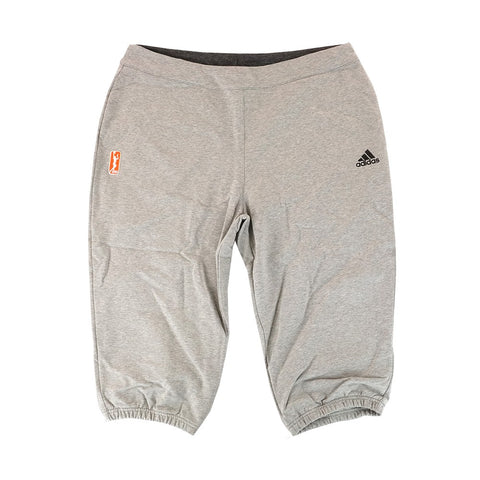 Adidas Official WNBA 3/4 Performance Team Issued Grey Capri Pants Women's
