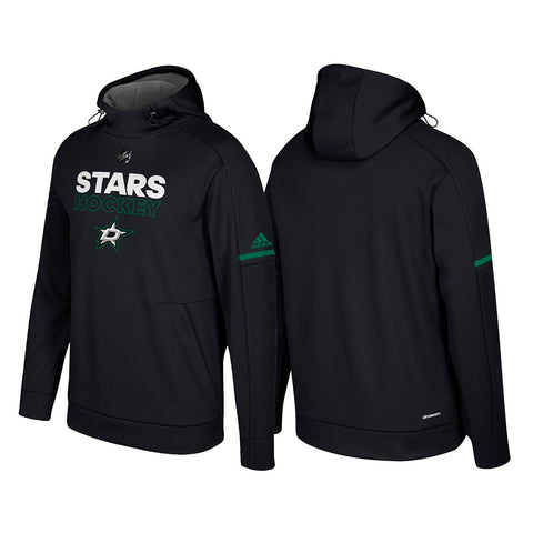 Dallas Stars Adidas NHL Men's Black Authentic Climawarm Pro Player Hoodie