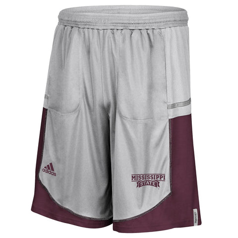 Mississippi State Bulldogs Adidas NCAA Men's Grey Sideline Climalite Shorts