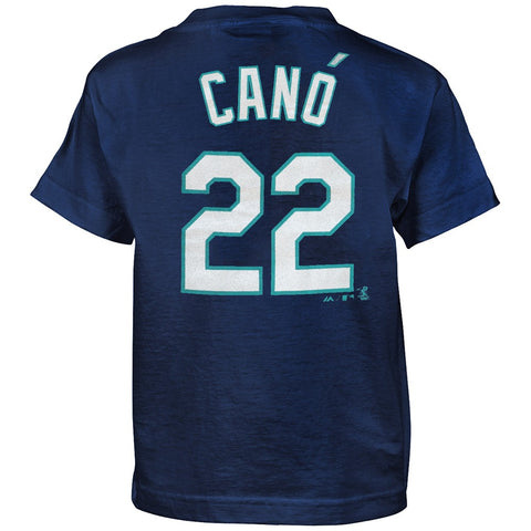 Robinson Cano Seattle Mariners Majestic MLB Boys Navy Blue SMU Player T-Shirt