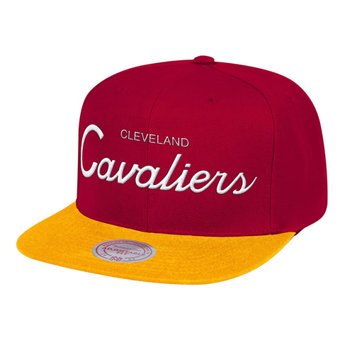 Cleveland Cavaliers Mitchell & Ness Classic Script (Maroon/Gold) Snapback Cap